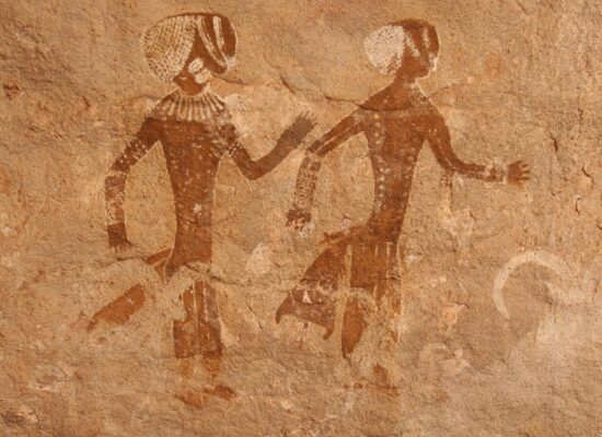 Rockpaintings in the algerian Sahara