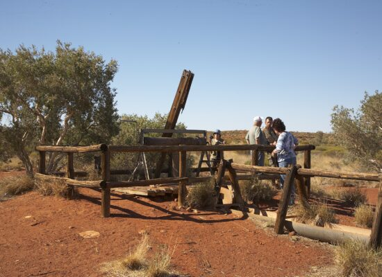 Brunnen Reste auf der Canning Stock Route