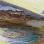 Das Auge der Sahara aus dem Orbit