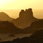 Felsen des Ahaggar Gebirges