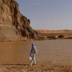 Water in the Central Sahara Region during an overland expeditione Outback Expeditions 4x4 Overland off the beaten track Algerien 4x4