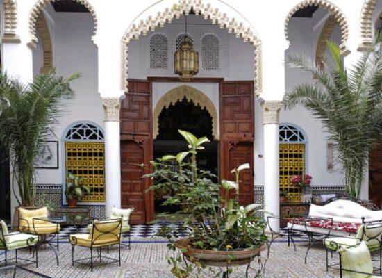 Innenhof eines Riads in Fes