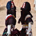2 Tuareg in traditioneller Kleidung auf dem Sebiba Festival nahe Djanet